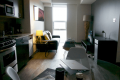 Corporate-Stays-169-Lisgar-kitchen-and-living-area