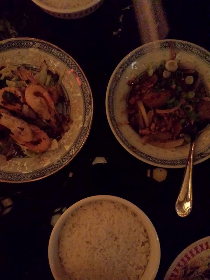 Crevettes (avec la tête), sel et poivre