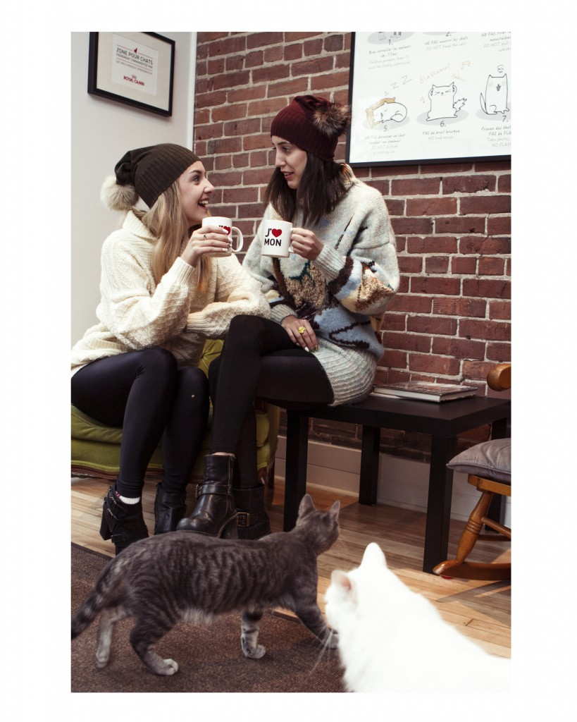 Brick Wall Black Coffee Tuque Autumn Montreal Canadian