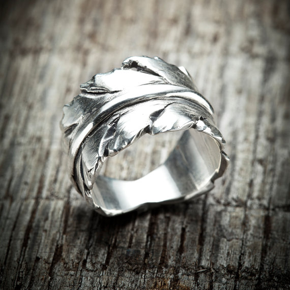 Silver Ring Jewelry Gift Christmas Holidays Montreal Leaf Craft
