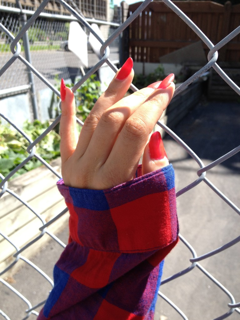 Fence Plaid Hand Girl Blogger Montreal Trust Fund Beauty