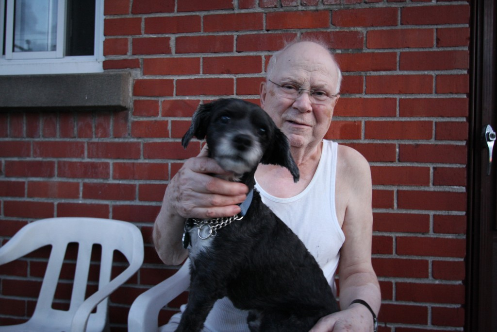 My grandfather and his number 1 bestie, Java the dog. Taken this summer in July.