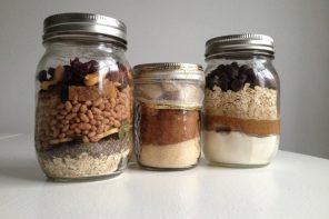 DIY Chocolate Cereal healthy Glass Jars Pinterest