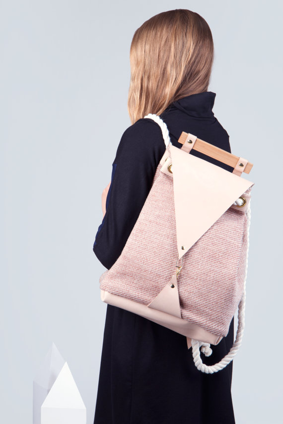 Minimalist Montreal Local Bag Backpack Pink Accessories Montreal Etsy Girl