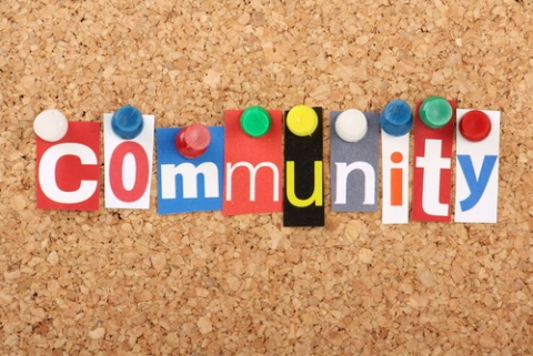 Community Colours Red Cork Board