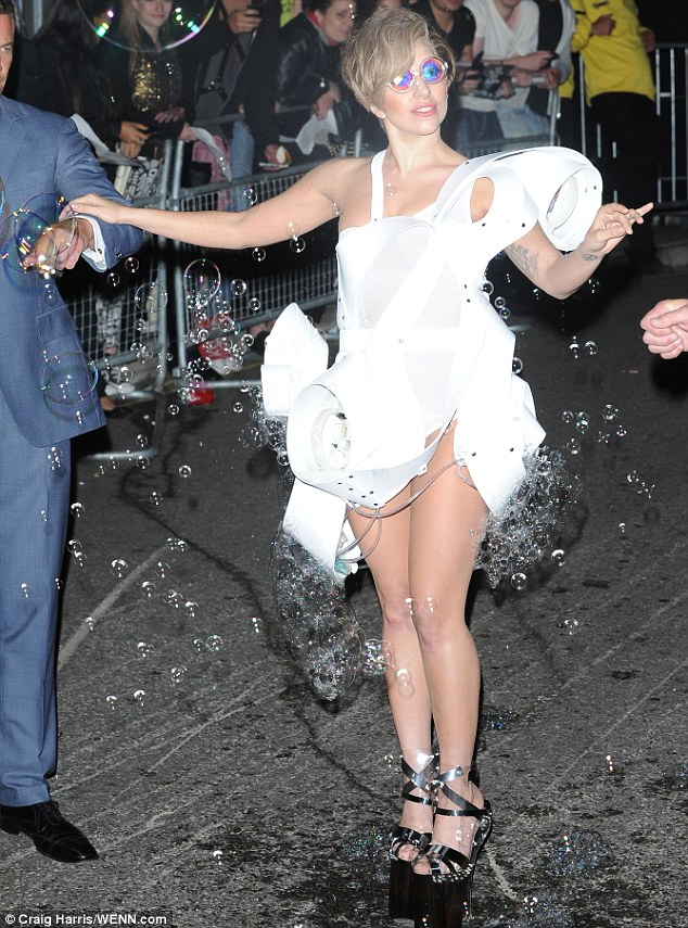 Lady Gaga Studio XO Bubbles White Artpop London UK