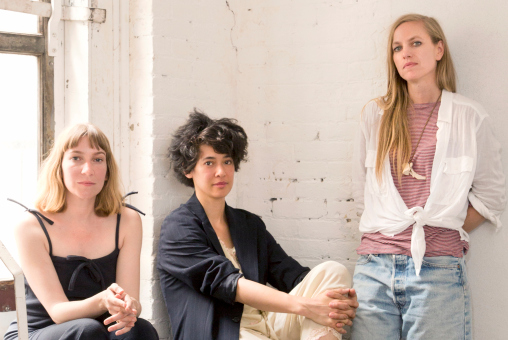 The editors of WInC. Heidi Julavits, Leanne Shapton, & Sheila Heti (L to R).  Photograph by Gus Powell. Photo courtesy of Women in Clothes online.