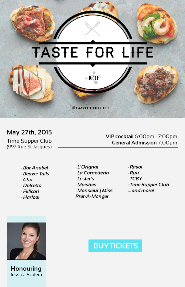 Taste For Life Israel Cancer Research Fund ICRF Montreal Food Events