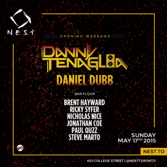 Danny Tenaglia Yellow Black Dance Party Nest Toronto May-Long