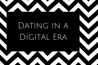 Dating Digital Era Black White B&W Canva
