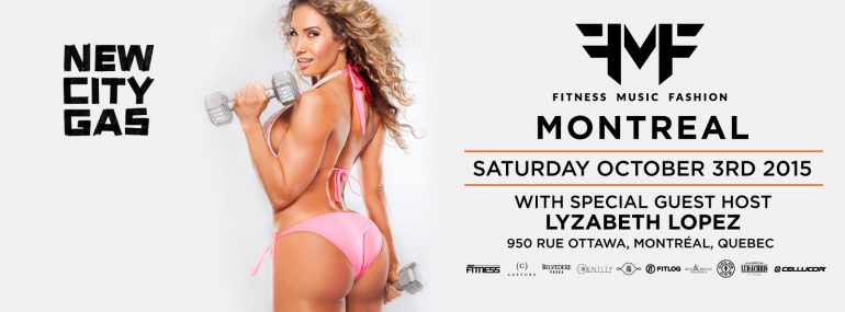 New City Gas Nightlife FMF EVENTS MTL Pink bikini fitness model girl Lyzabeth Lopez