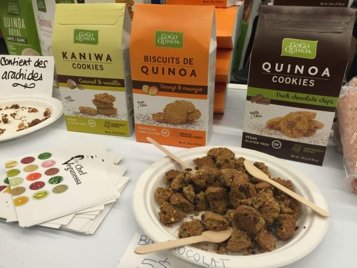 Expo Manger Sante Quinoa Organic Cookies Montreal